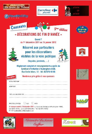 Inscriptions Deco Noel 2011